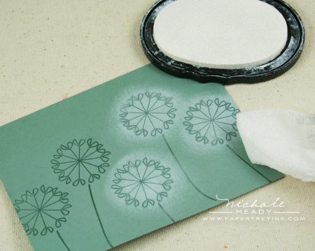Sponging white ink