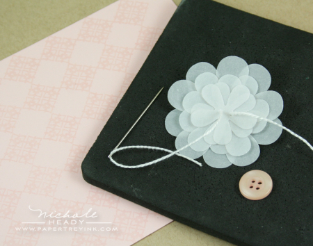 Stitching vellum flower