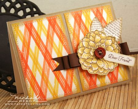 Plaid Dahlia Card