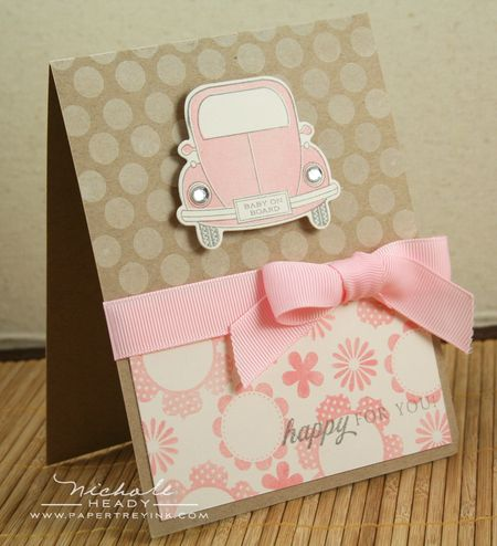 Pink Baby on Board card