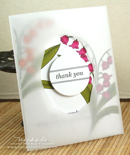 Vellum thank you card
