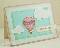 Vintage Balloon card