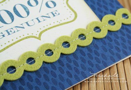 Stitched border closeup