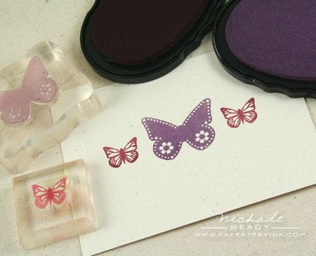 Stamped butterflies
