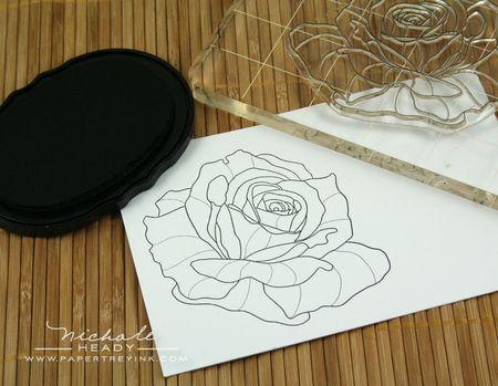 Stamping rose