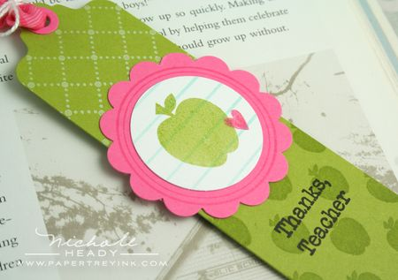 Bookmark focal closeup