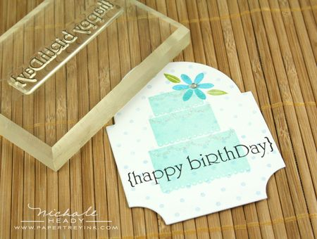 Stamping happy birthday