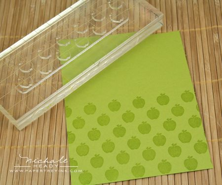 Stamping apple background