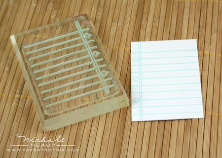 Stamping notebook paper