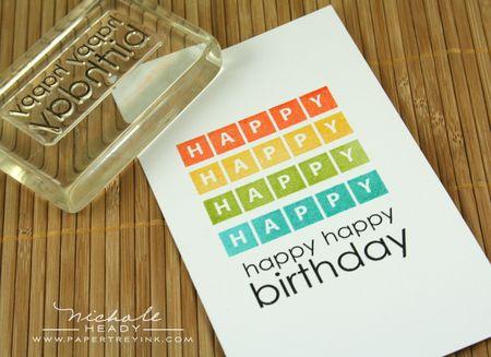 Stamping birthday