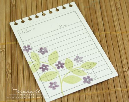 Stamping leaves & flowers