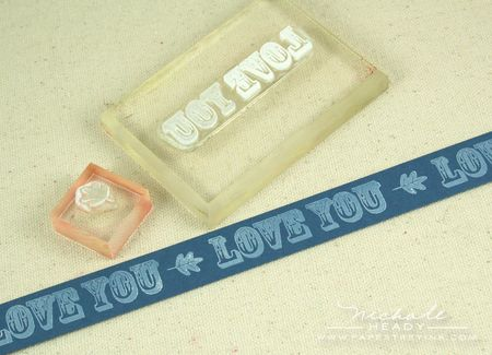 Stamping love you border