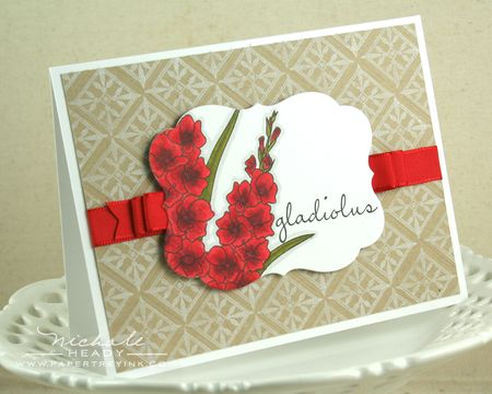 Red Gladiolus Card