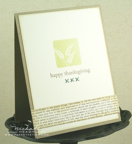 Wheat thanksgiving card