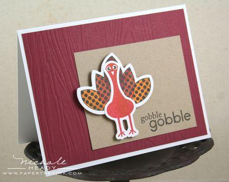 Gobble Gobble card