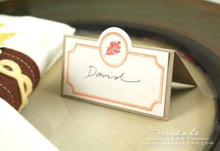 Place card closeup
