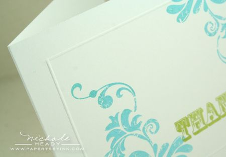 Embossed border
