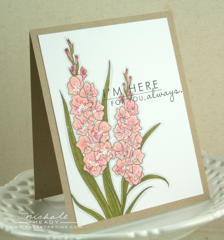 Pink Here For You Card