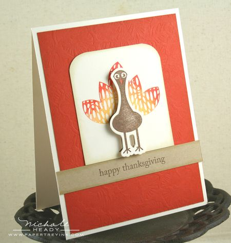 Gradient turkey card