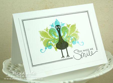 Peacock card