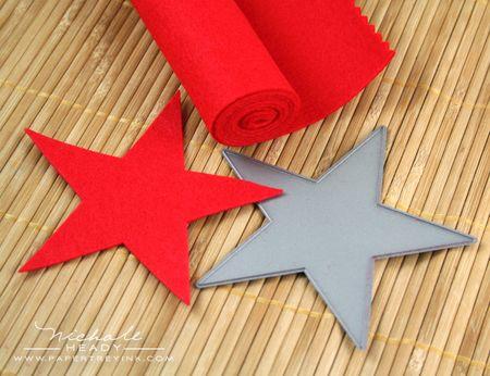 Cutting felt star