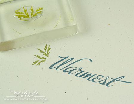Stamping greenery
