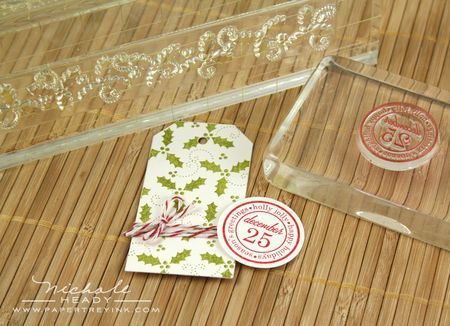 Stamping holly background