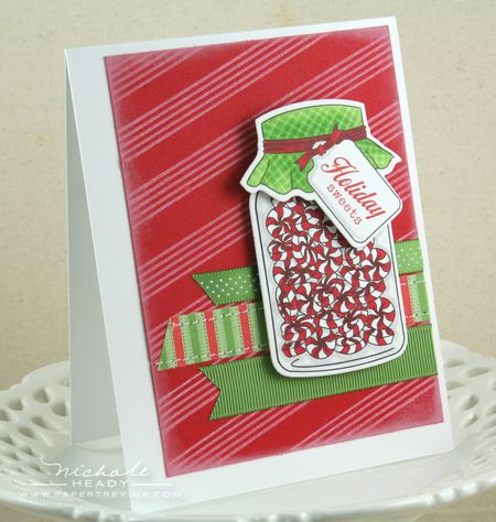 Peppermint Wishes Card