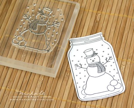 Stamping snowman