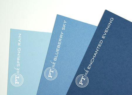 Blueberry sky cardstock comparison