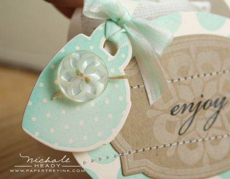 Tea cup tag closeup