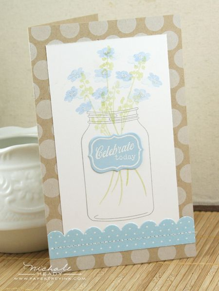 Wildflower Jar Card
