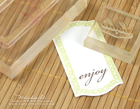 Stamping enjoy tag