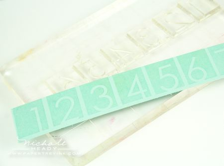 Number strip stamps