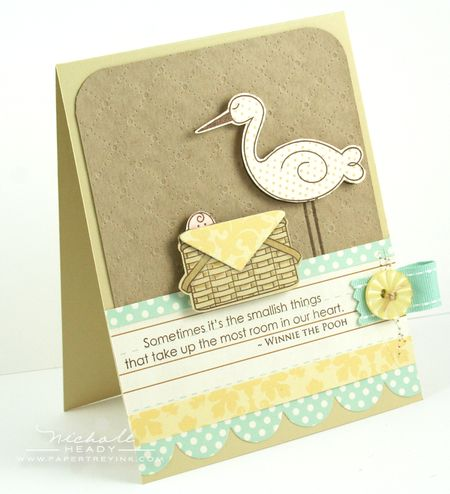 Stork & Basket Card