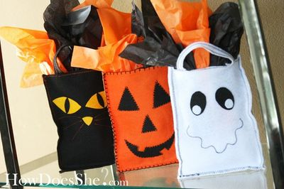Felt treat bags