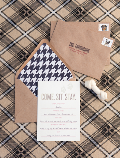 Houndstooth invitation