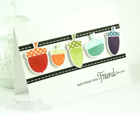 Rainbow Acorns card