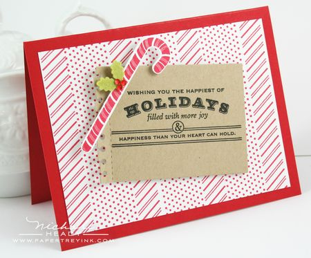 Holiday Candy Cane Card