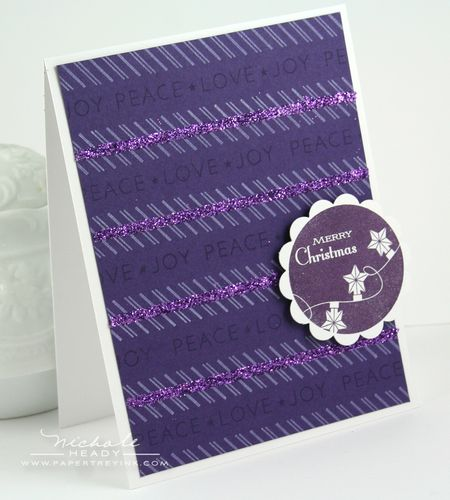 Glitter Stripes Card
