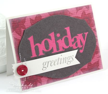 Felt Holiday Greetings Card