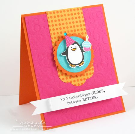 Penguin Cupcake Card