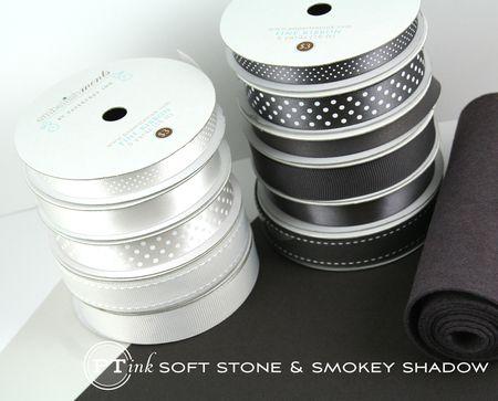 Soft Stone & Smokey Shadow ribbons