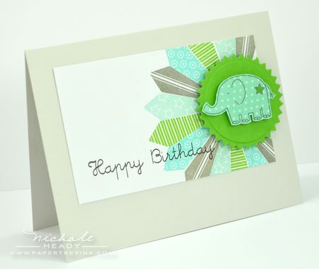 Birthday elephant card