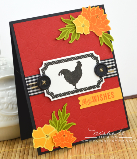 Best Wishes Rooster Card