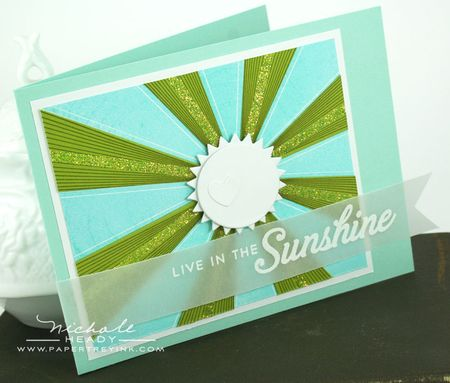 Live in the sunshine card
