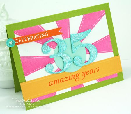 35 amazing years card