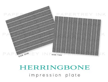 Herringbone-impression-plate