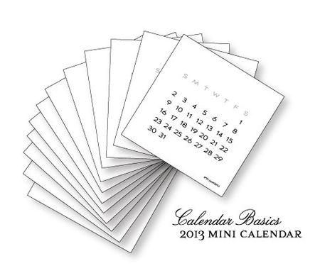 2013-Mini-Calendar