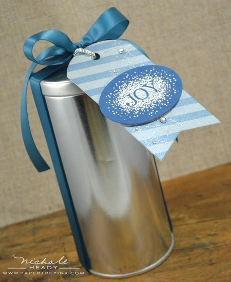 Joy & Silver Stars Tin